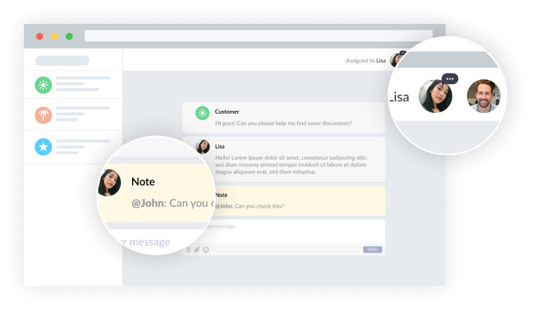 Let your team collaborate on every customer request